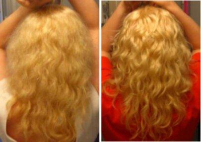 balsammetoden lockigt hår