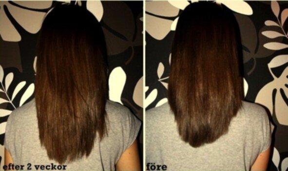 hur mycket växer håret på en vecka