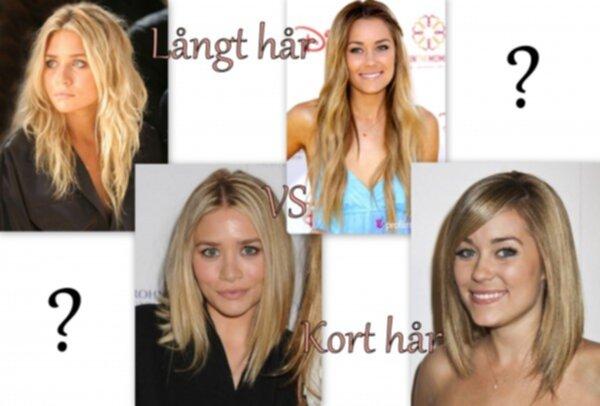 kort långt hår