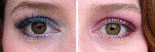 blå ögonskugga bruna ögon