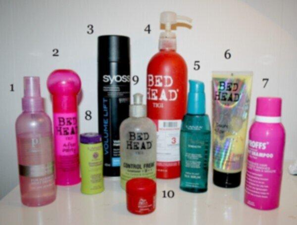 värmeskyddande spray för håret