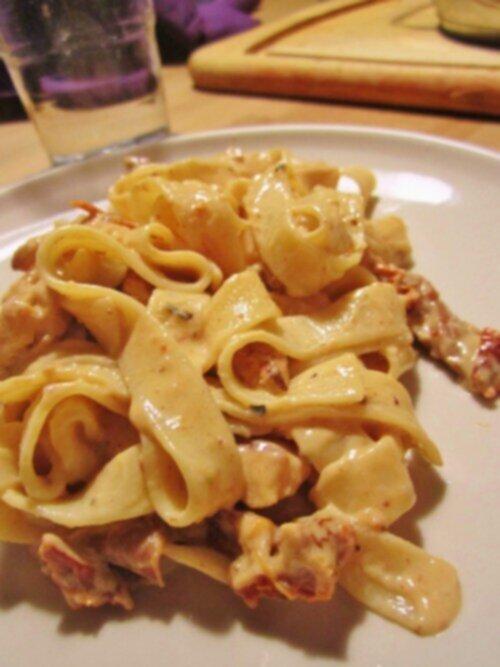 krämig pasta pesto kyckling