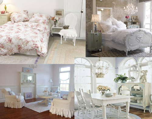 inspiration by romantic shabby chic. Black Bedroom Furniture Sets. Home Design Ideas