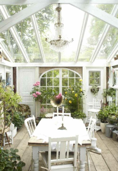 shabby chic trädgård