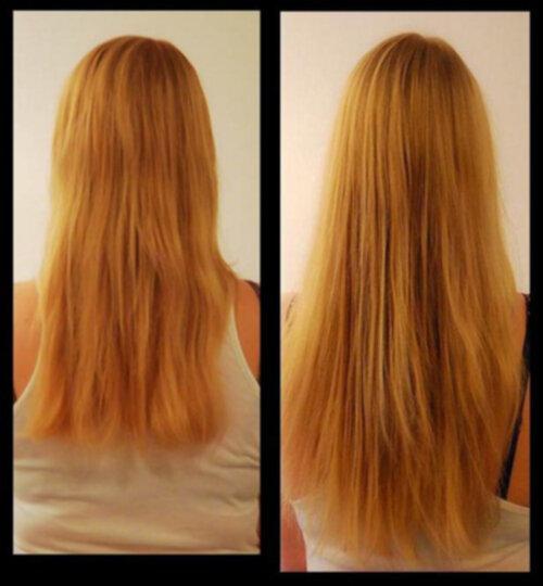 hur långt växer håret på en månad