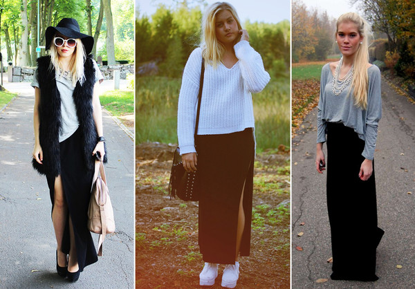 fashion styles meet best sell långkjol outfit ddesigns.se