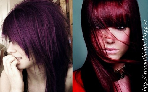 röd lila hårfärg hemma