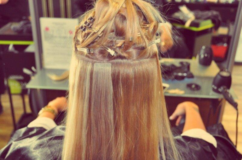sliter löshår på håret